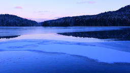Lake Ashoro, Hokkaido, Japan Footage