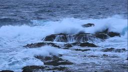 Strong waves at sea at Shakotan Peninsula, Hokkaido, Japan Footage