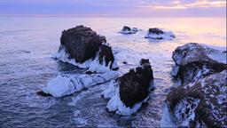 Kiritappu Cape, Hokkaido, Japan Footage