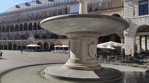 Piazza dei Signori in Padua in Italy, one the most famous place in the city 3 Live Action
