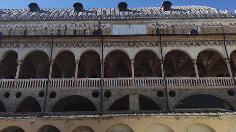 Architecture details from old historical building in Padova in Piazza dei Signori 3 Live Action