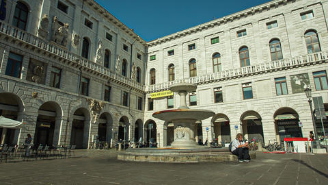 Piazza dei Signori in Padua in Italy, one the most famous place in the city 5 Live Action