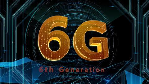 6G Digital Network technology 6th generation mobile communication concept background 507 black 4k Animation
