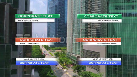 Corporate Lower Third Plantillas de Motion Graphics