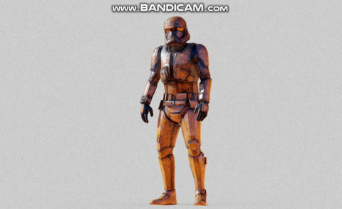 Desert trooper rigged Modelo 3D