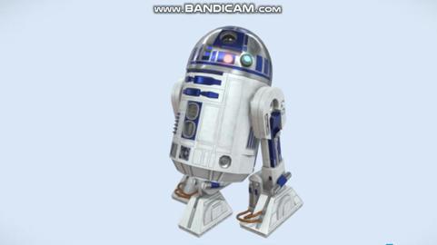 R2 d2 low poly 3Dモデル