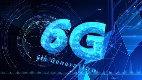 6G Digital Network technology 6th generation mobile communication concept background 524 blue 4k Animation
