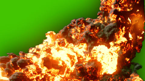Burning fuel. Close-up of a flame burning fuel with thick black smoke. VFX animation in front of Animation