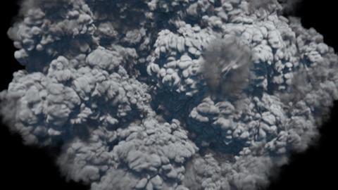Strong thick smoke after a powerful explosion. Contains an alpha channel Animation