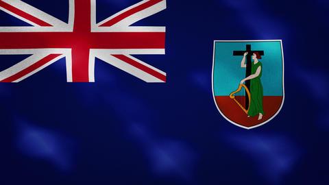 Montserrat dense flag fabric wavers, background loop Animation