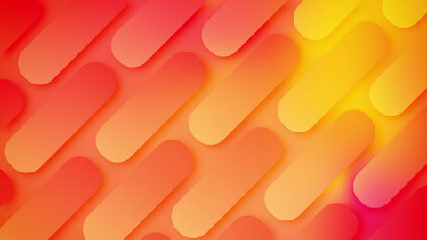 Modern dynamic rounded rectangles shape minimal geometric abstract background looped Animation