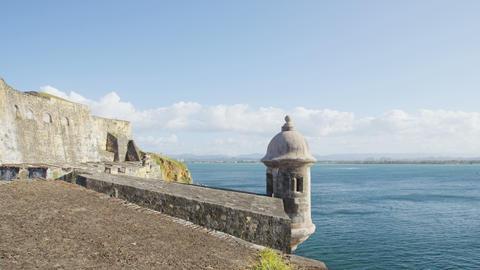 Puerto Rico tourist destination Landmark castle Castillo San Felipe Del Morro Live Action
