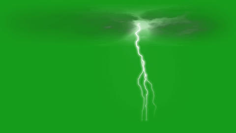 Lighting bolt motion graphics with green screen background CG動画