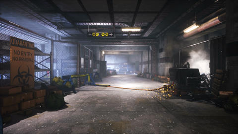 A post-apocalyptic deserted smoke-filled subway. The concept of a post-apocalyptic world Videos animados