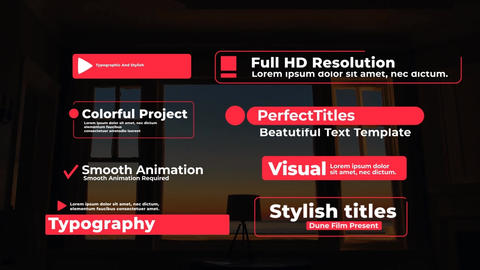 Typographic And Stylish Titles After Effects Template
