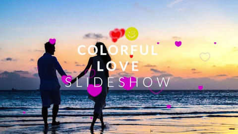 Colorful Love Slideshow Premiere Pro Template