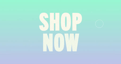 Shop now Logotype. Smooth Text Animation Animation