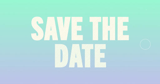 Save the date Logotype. Smooth Text Animation Animation
