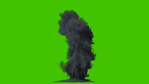 Burning fire, real fire, explosion in isolated black background with alpha channel, fire and fuel Animation