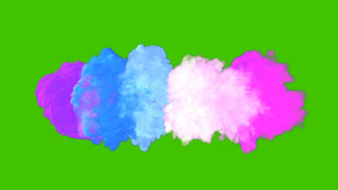 Multicolored colorful smoke. An explosion of liquid multi-colored ink. VFX animation in front of Animation