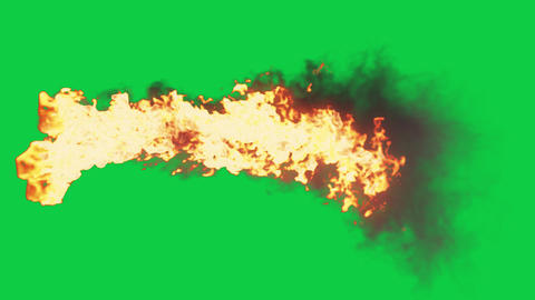 3D Fire Tornado & Smoke Tornado Grahipc Element Green Screen Animation