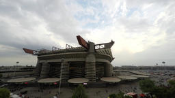 Time lapse of Meazza Stadium in Milan Footage