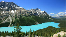 Peyto Lake and Rocky Mountains, Canada Footage