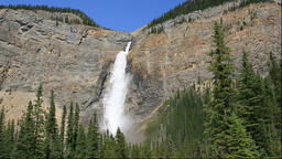 Takakkaw Falls in the Yoho National Park, Canada Footage