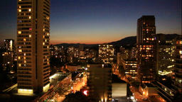 Night view of Vancouver, Canada Footage