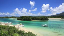 Kabira Bay on Ishigakijima Island in Okinawa Prefecture Footage