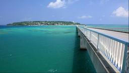 Kouri Island Bridge, Kouri Island, Okinawa Footage