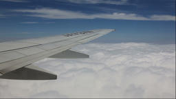 Clouds seen through an airplane window, Okinawa Prefecture, Japan Footage