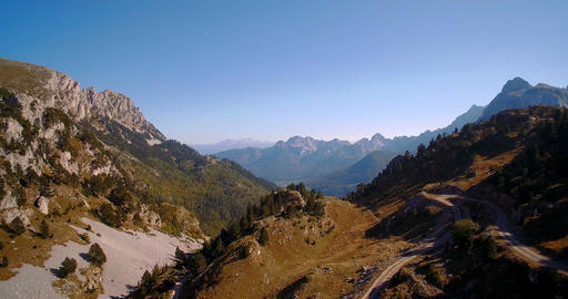 Aerial, Idyllic Mountainous Panorama, Montenegro - Graded and stabilized version Footage