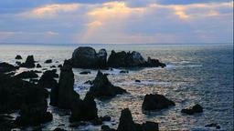 Winter at Nyudozaki Point on the Oga Peninsula in Akita Prefecture Footage