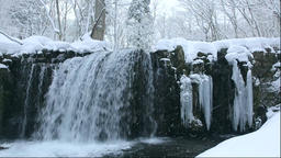 Winter in the Oirase Gorge in Aomori Prefecture Footage