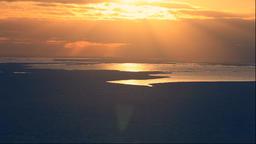 Drifting ice at Shiretoko Peninsula at sunset, Hokkaido, Japan Footage