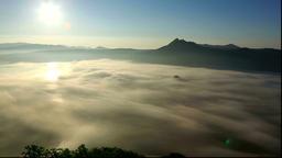 Morning fog over Lake Mashu, Hokkaido Footage