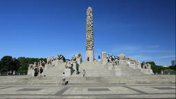 Vigeland Park in Norway Footage