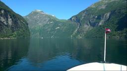 Geirangerfjord in Norway Footage