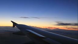 Wings at sunset in Hokkaido Footage
