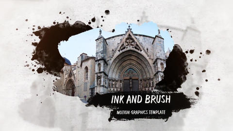 Ink And Brush Slideshow After Effects Template