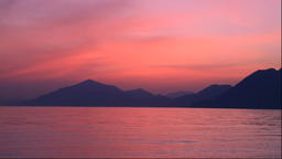 Sunset in the Seto Inland Sea from Hakatajima in Ehime Prefecture Footage