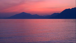 Sunset in the Seto Inland Sea from Hakatajima in Ehime Prefecture Footage