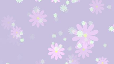 パーティクル 花 マシュマロカラー ループ GIF