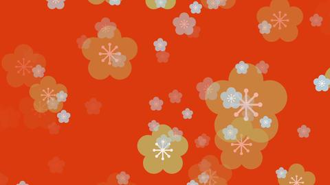 パーティクル 和柄 カラー ループ 梅02 GIF