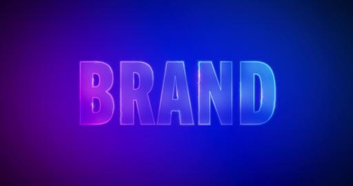 Brand. Electric lightning words. Logotype Animation