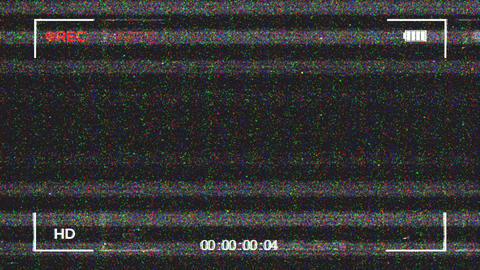 VHS Video Recording Screen Animation