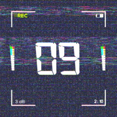 Square Camera Display Countdown Animation