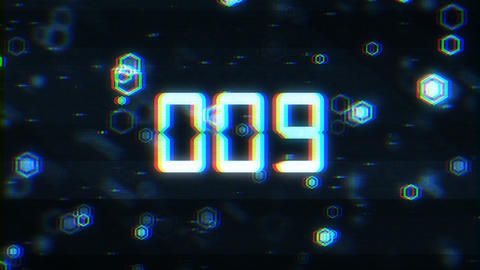 Glitch Countdown Animation