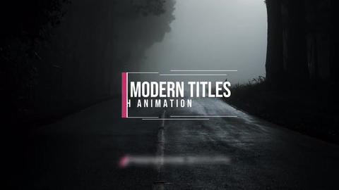 Modern Titles Plantillas de Motion Graphics
